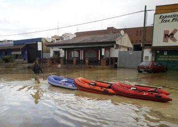 Las consecuencias de las fuertes lluvias en Málaga y Cádiz