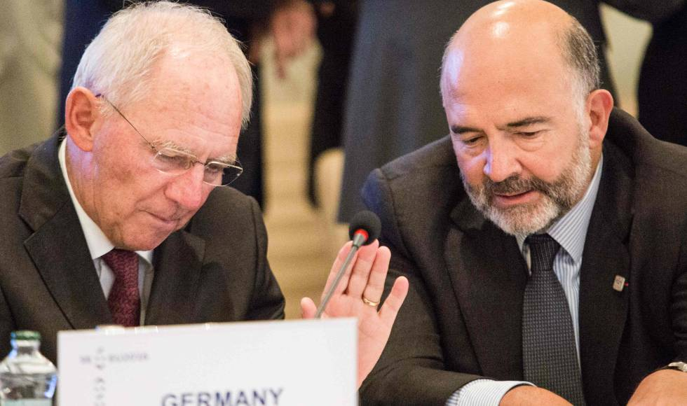 Wolfgang Schäuble con Pierre Moscovici