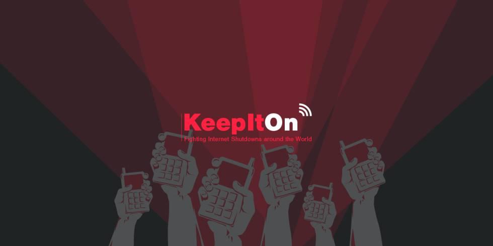 Imagen de la campaña #KeepItOn.