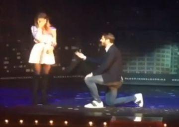 Álvaro Morata pide matrimonio a su novia durante una función de teatro en Madrid