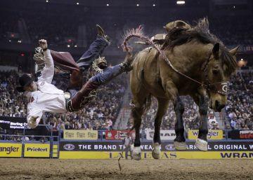 Final del Campeonato Nacional de Rodeo en Las Vegas.