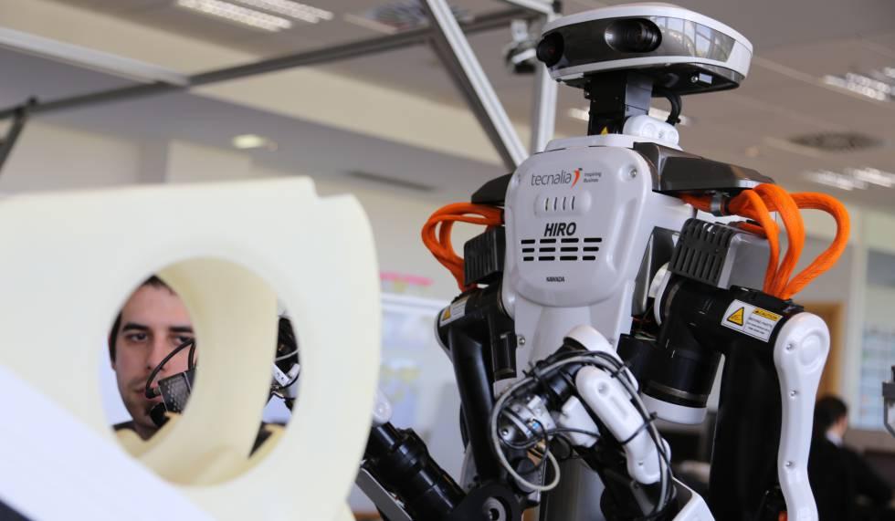 El 'cobot' industrial Hiro, con aspecto humanoide.