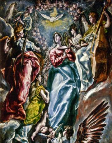 Fragmento de La Inmaculada, de El Greco.