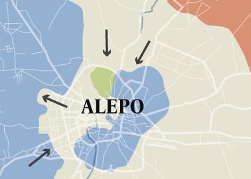 Evolución de la batalla de Alepo