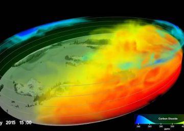 Así es la capa de gases que provocan el calentamiento global