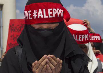 Cientos de voces corean: ¡Salvemos Alepo!
