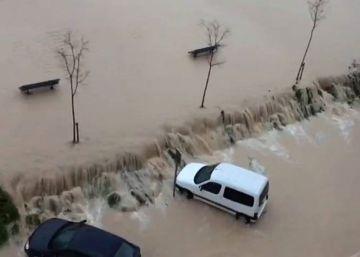 Los vídeos del temporal en Valencia y Murcia