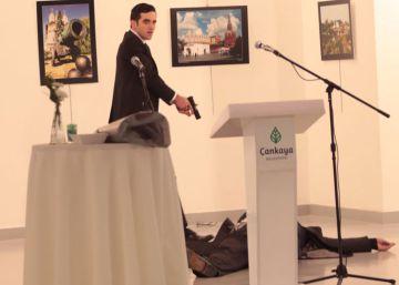 Las imágenes del disparo al embajador de Rusia en Turquía