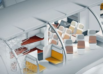 Cabinas que cambian en cada vuelo, así imagina Airbus los aviones del futuro