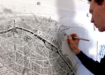 El hombre que dibuja París de memoria