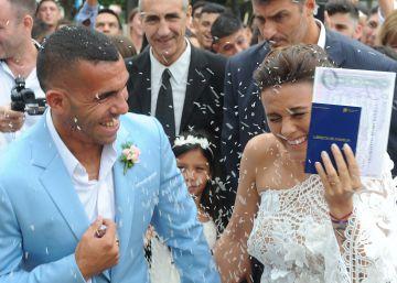 Carlos Tevez se casa en Buenos Aires con una fiesta de cuatro días