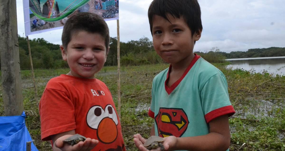 Niños en Bolivia.