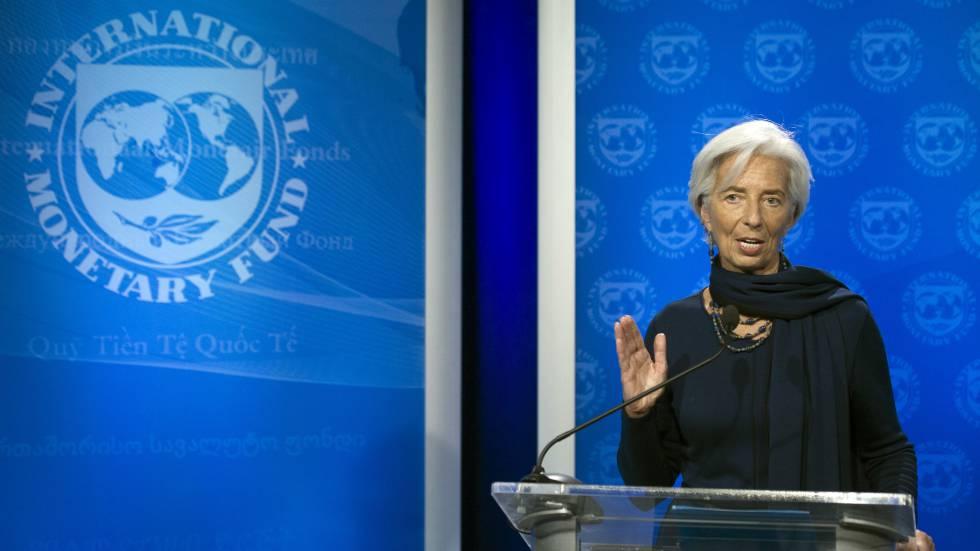 Christine Lagarde en Washington después de que el FMI reafirmara su confianza en ella.rn