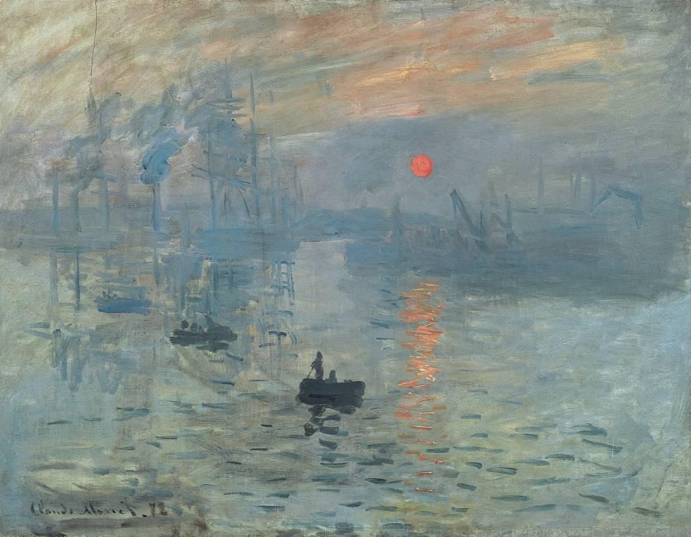 El padre del impresionismo, Claude Monet, tenía una pincelada que seguía un patrón fractal. La imagen corresponde al cuadro de 1872 'Impresión, sol naciente'.