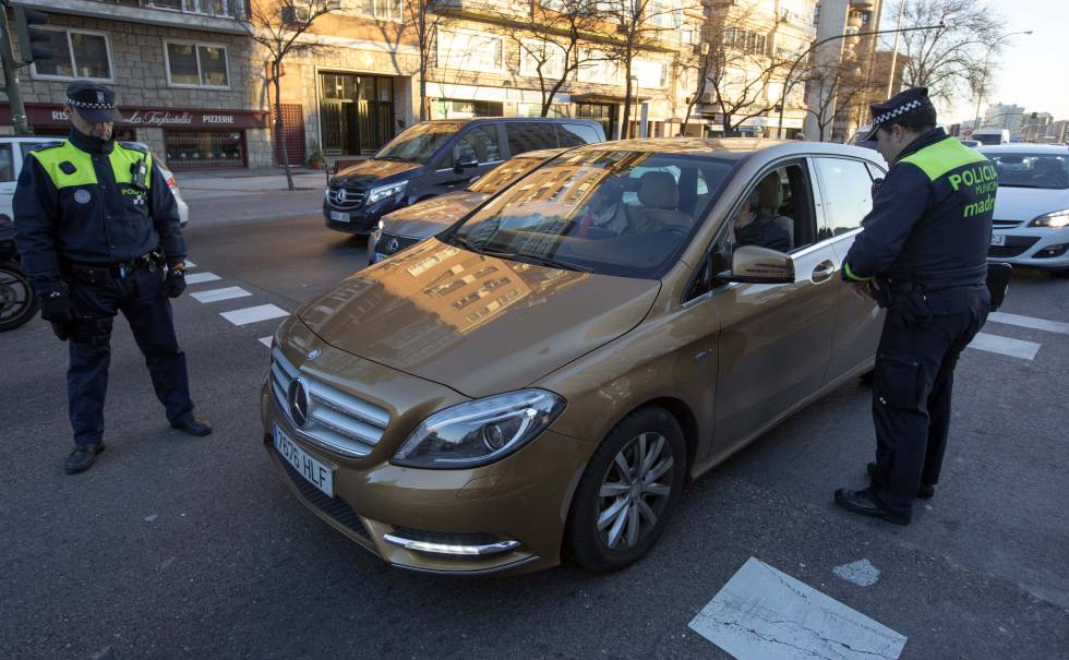Madrid en alerta por alta polucion.