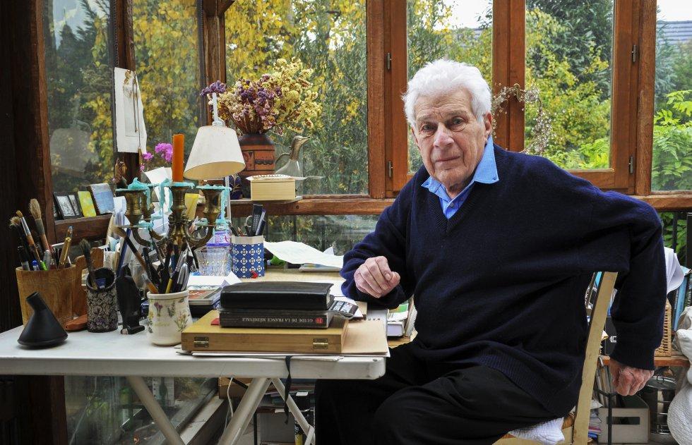 John Berger, el pasado octubre en su casa cerca de París.