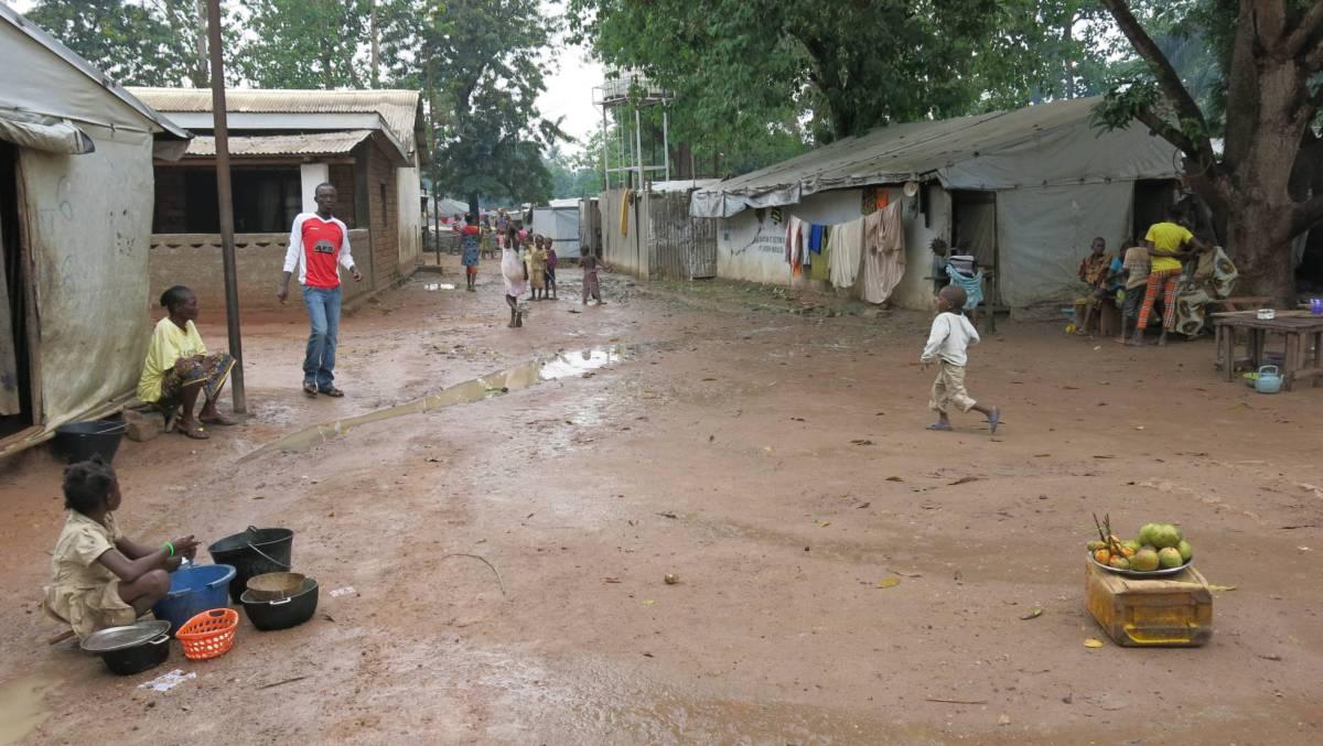 Campo de desplazados de Mukassa, Bangui, República Centroafricana.