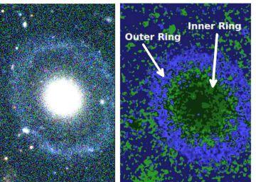 Hallada una extraña galaxia con dos anillos