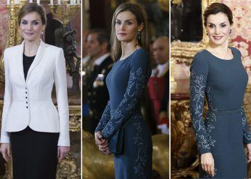 La Reina repite el traje que llevó en 2015 en la Pascua Militar