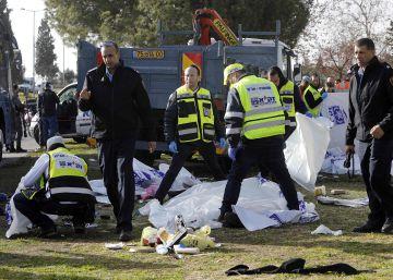 Las imágenes del atentado con un camión en Jerusalén