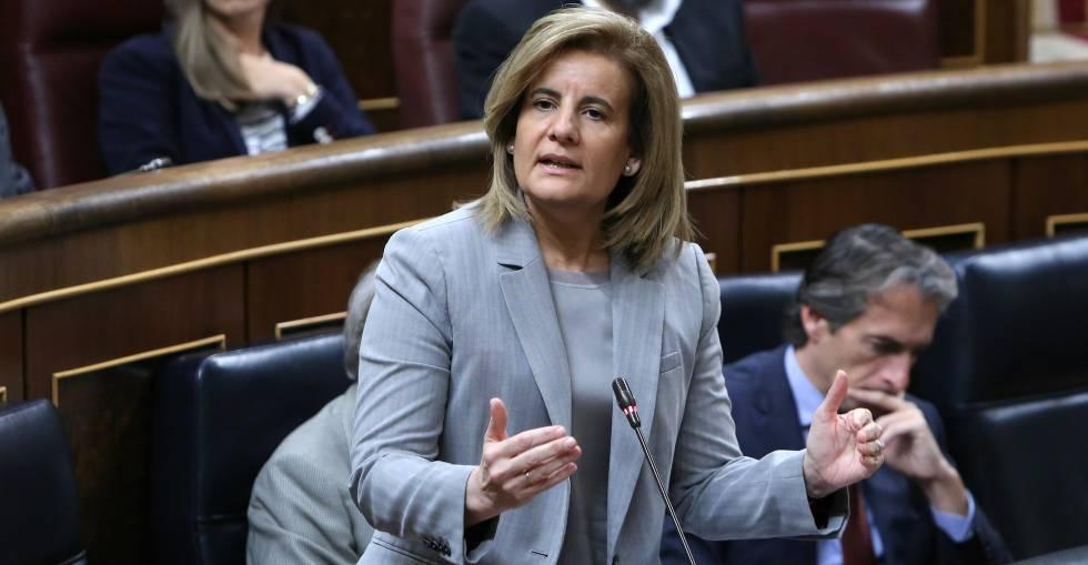 Fátima Báñez, ministra de Trabajo