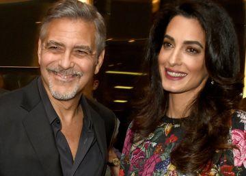 Amal Clooney reaparece entre noticias de embarazo