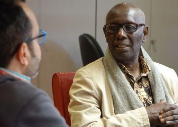 Boubacar Boris Diop, durante una entrevista.