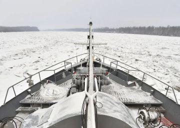 Las bajas temperaturas congelan el Danubio