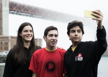 Los fundadores de Sharge, Elsa Rodríguez, Alex Sicart y Guillermo Andrés.