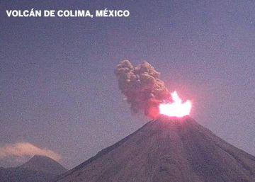 Spectacular eruption at Mexican volcano caught on camera