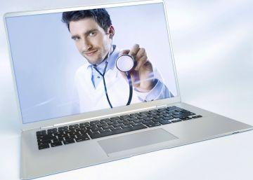Un médico en la palma de la mano