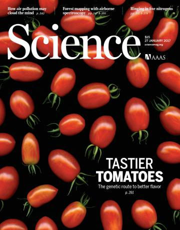 Recent front cover of 'Science' magazine.