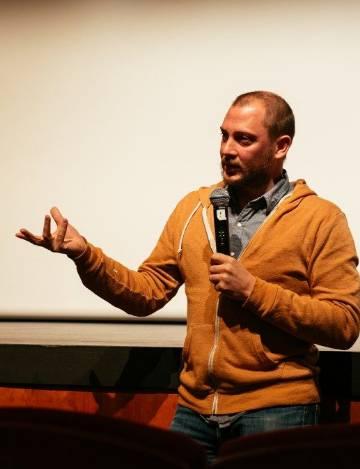Olivier Jourdain, director del documental 'L'eau sacrée', tras su proyección en el festival MiradasDoc, en Tenerife.