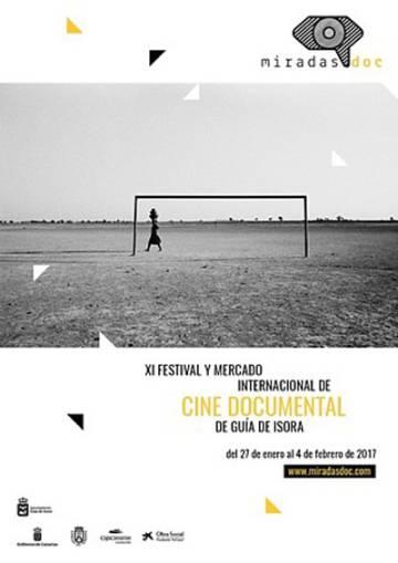 Cartel del festival y mercado de cine documental Miradasdoc, en Guía de Isora (Tenerife).