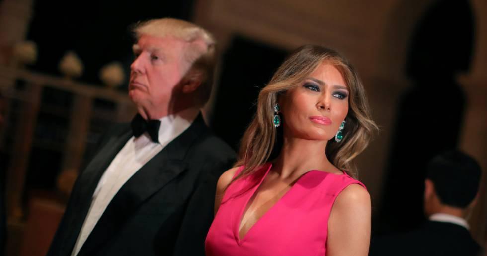 Donald Trump y Melania Trump, en una gala en el club Mar- a- Lago en Miami.