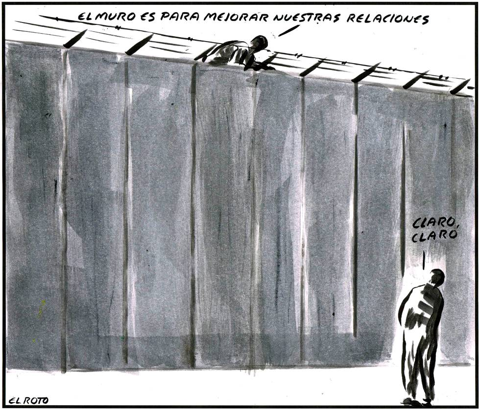 - The wall is to improve our relationship. Of course, of course.