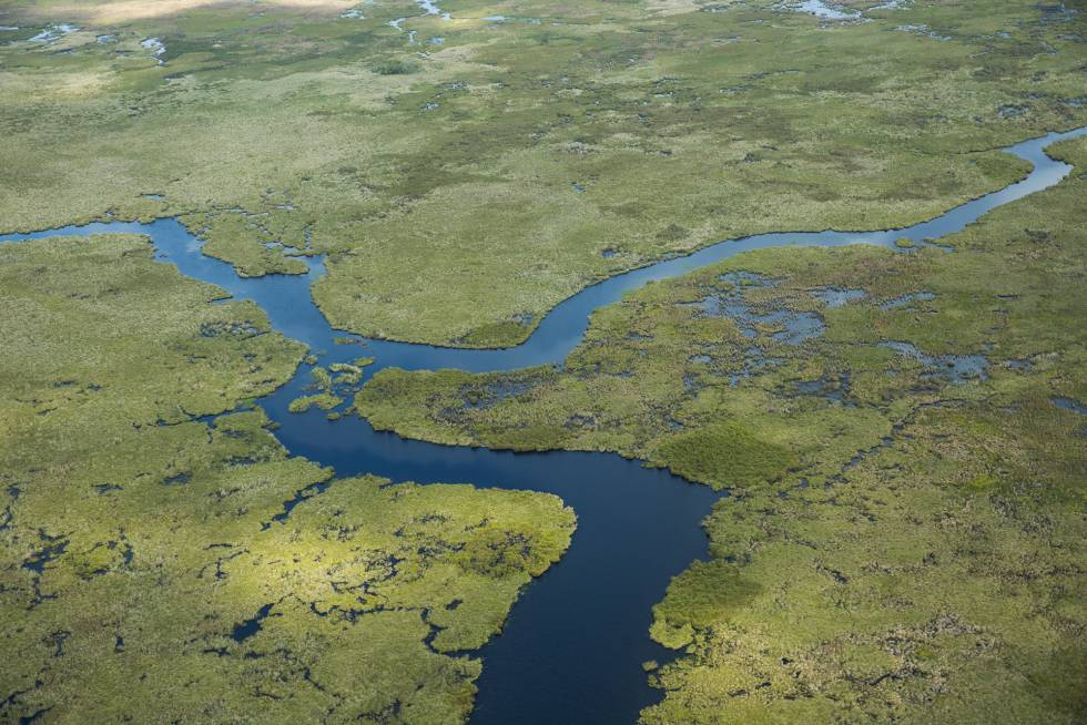 An aerial image of the eastern part of the territory, which is recuperating its original ecosystem thanks to the work of the Conservation Land Trust (CLT)