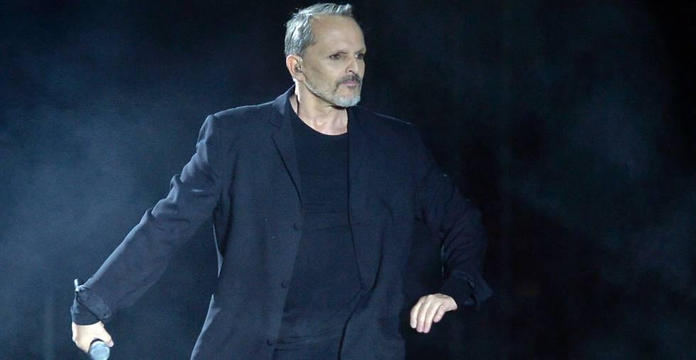 Miguel Bosé, en el Zócalo de la Ciudad de México.