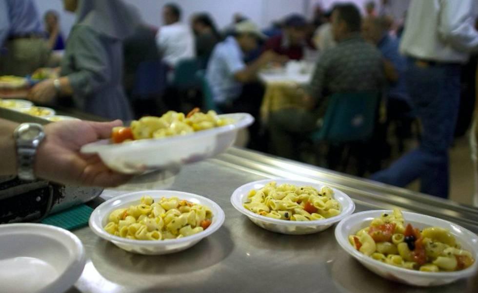 Vista de un comedor social gestionado por la Comunidad de San Egidio en Italia.