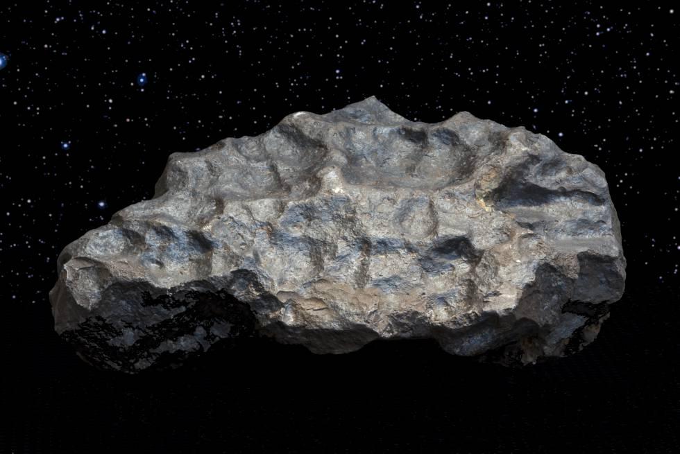 El meteorito de Colomera es una roca metálica que, cuando se encontró, pesaba 134 kilos