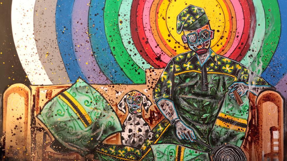 Obra titulada 'African Royalti', de Turay, expuesta en la serie 'L'Afrique en capitale', en Rabat.