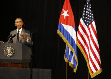 Obama defends democracy in Havana speech to Cuban nation