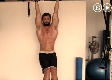 Vídeo: el salvaje entrenamiento de Chris Hemsworth para estar tan musculado