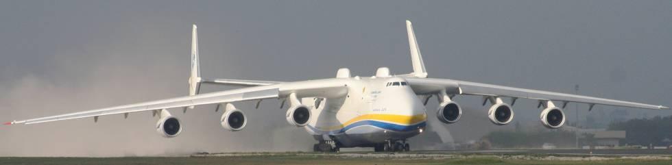 Antonov AN-225 Mriyá, el avión más grande del mundo.