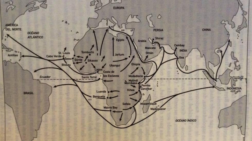 La mundialización de las tratas africanas en los siglos XVIII y XIX.