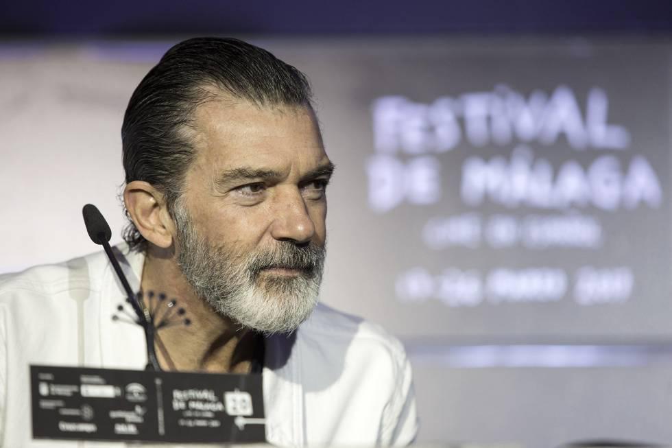 El actor Antonio Banderas en Málaga.