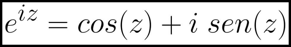 Fórmula de Euler en la forma que suele mostrrse en la actualidad