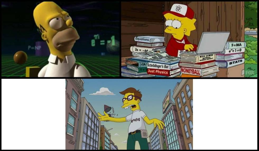 La identidad de Euler en 'Los Simpson'