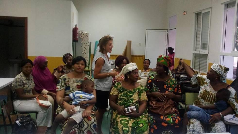 Sesión de formación de las mujeres integrantes de la asociación