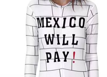 Calls for Amazon to stop selling 'racist' Trump wall party costume